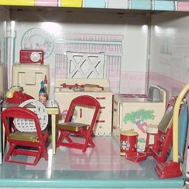 Vintage Metal Dollhouses On Vintage Dolls